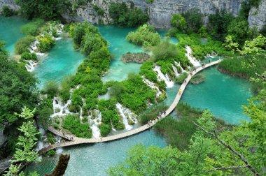 Travertine waterfall