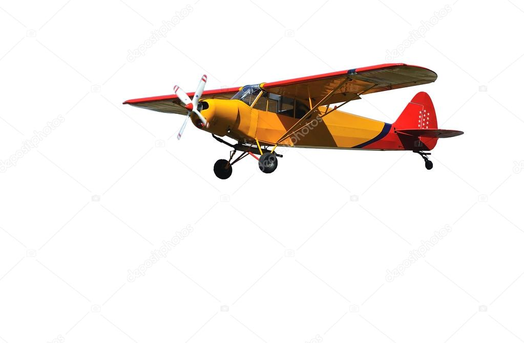 Light Aircraft in red and orange