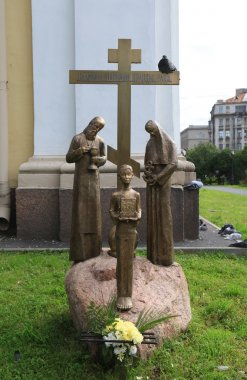 Sculptural composition is set to the memory of millions of our fellow citizens of the repressed in Prince Vladimir Cathedral. St. Petersburg, Russia.