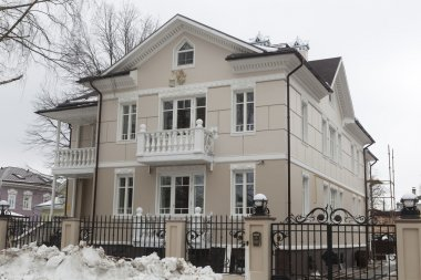Being built in the old style cottage in the city of Vologda, Russia