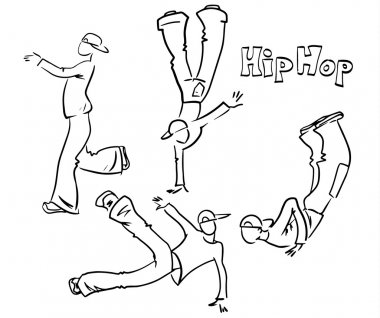 Hip hop dancer set