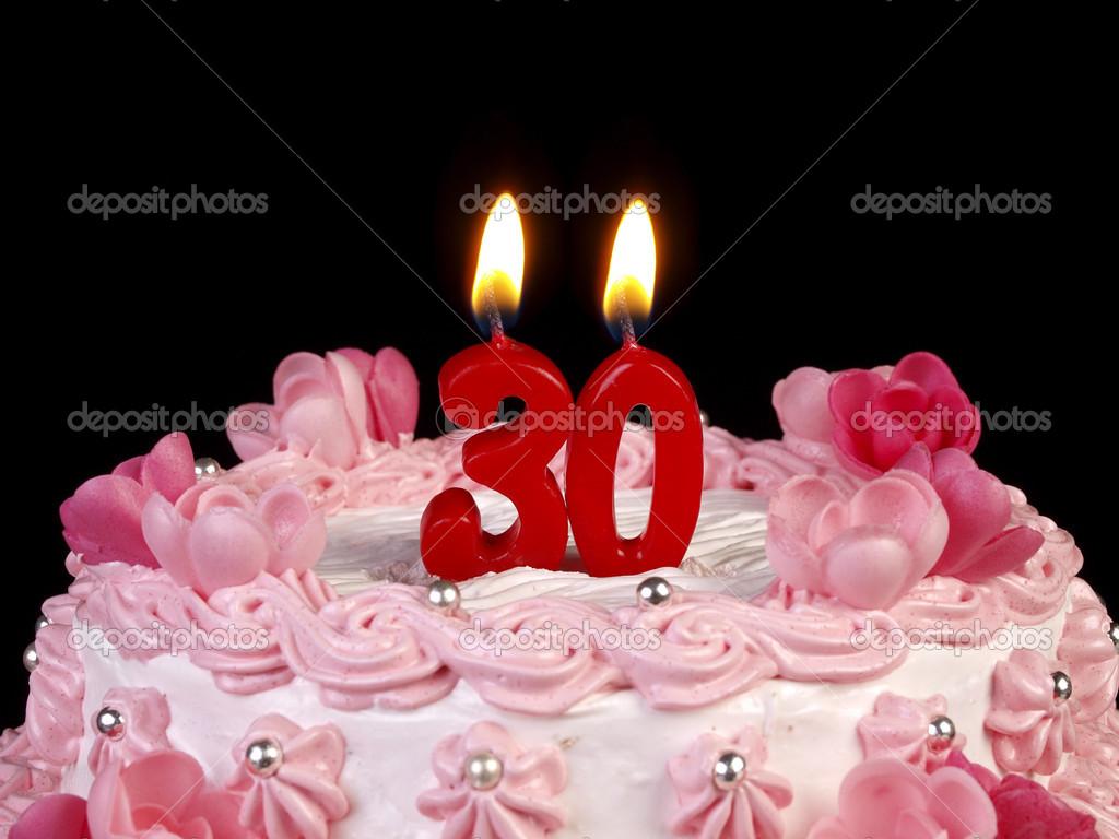 30 születésnapi torták Születésnapi torta piros gyertya találat, Nr. 30 — Stock Fotó  30 születésnapi torták