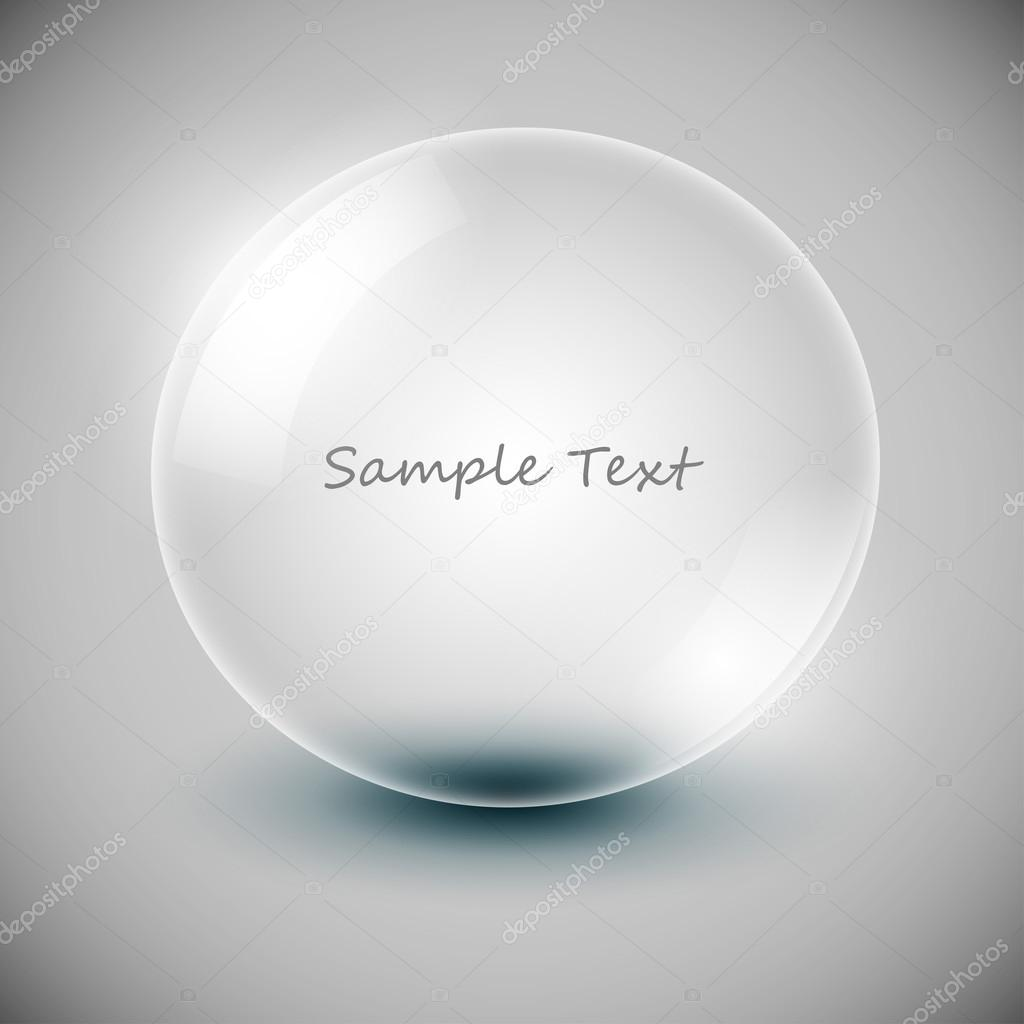 Vector transparency ball (soap bubble)