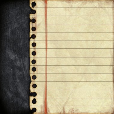 Empty paper sheet on blackboard