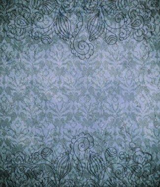 Vintage wallpaper (classical ornament) stock vector