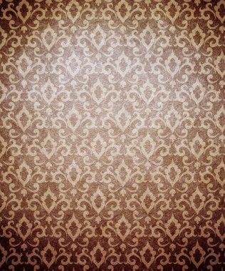 Damask wallpaper (classical ornament) stock vector