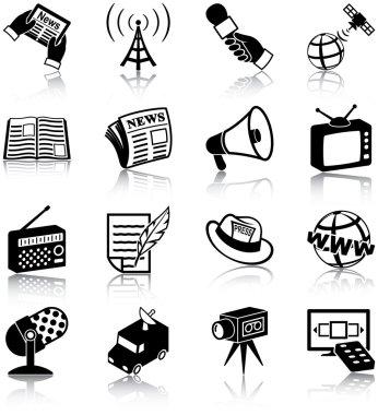Mass media icons