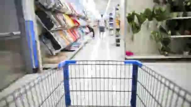 Time Lapse of Shopping Cart and Shopping