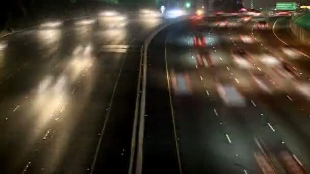 časová prodleva rušné dálnice v los angeles v noci