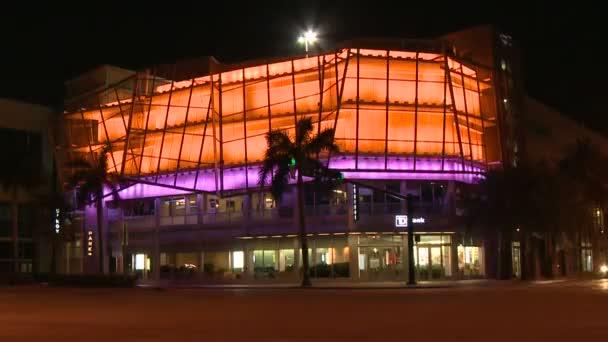 Miami městské dopravy. blikající budova