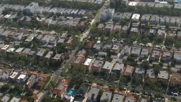 Letecký pohled na předměstí Los Angeles California