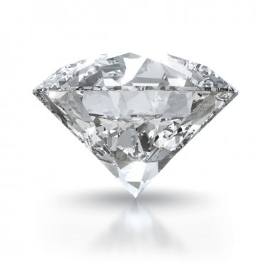 Diamond on white background - isolated with clipping path