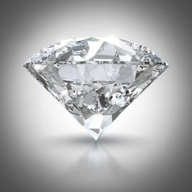 Big shining diamond with clipping path
