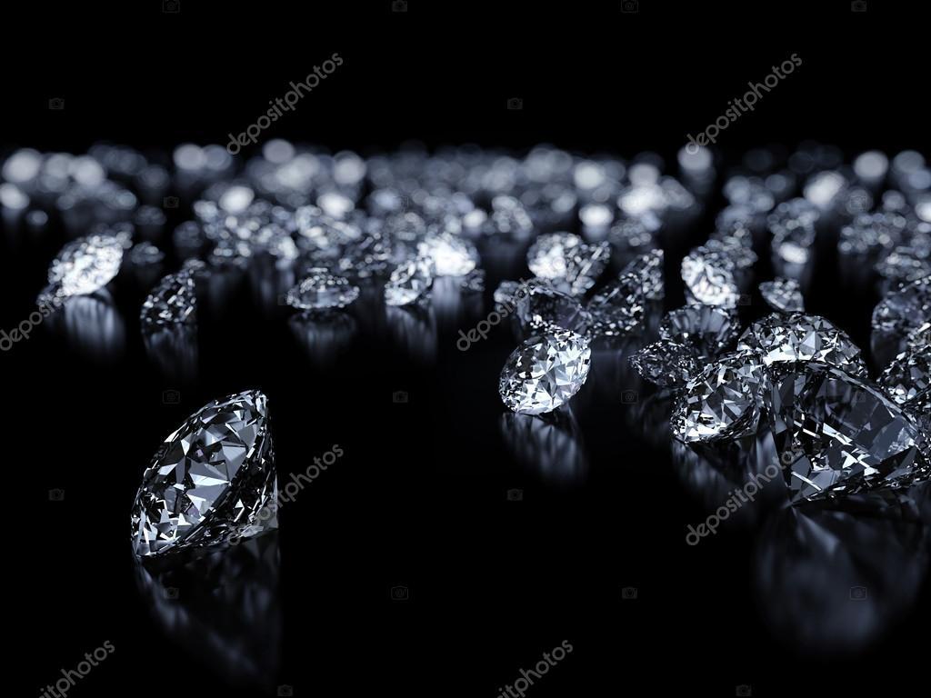 Diamonds on black backgorund
