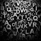 Fotografie 3D Zeitung Buchstaben Hintergrund
