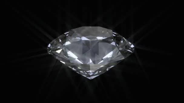 Spinning fehér ragyogó gyémánt - végtelenített 3d animáció