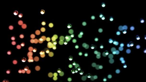 abstraktní umění - předení barevné duhová koule - tvořili cg animovaných pozadí