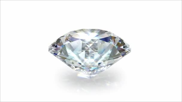 Spining diamond on a white bacground