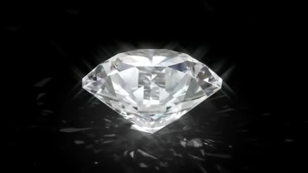 Spinning shining diamond - looped and alpha masked 3d animation