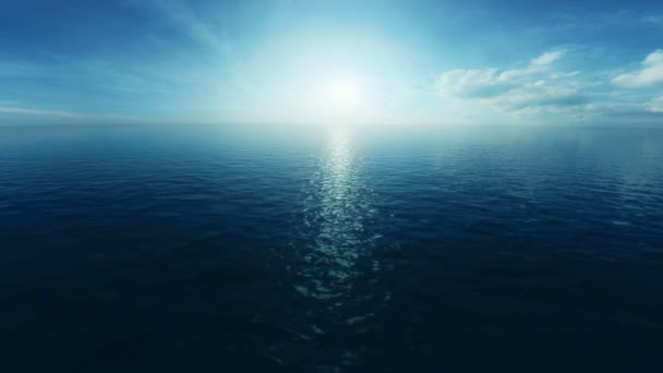 letu nad oceánem 3d animace