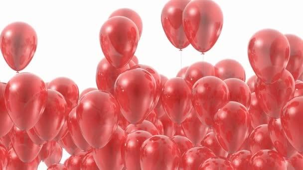 červené balónky přechod maskované animace - 3d