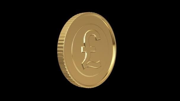 zlatá mince libry na černém izolované s ořezovou cestou