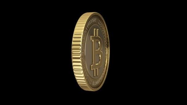 Golden fonás bitcoin digitális valuta animáció