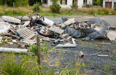Heap of construction waste