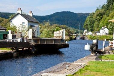 Canal Lock with bridge