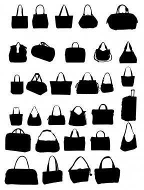 Silhouette bag vector illustration