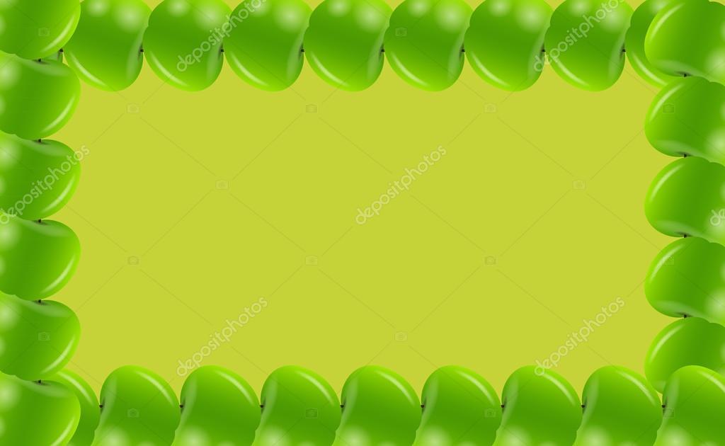 Apple frame vector illusttration