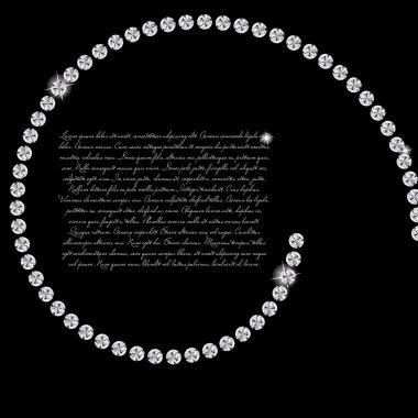 Abstract beautiful black diamond background vector illustration