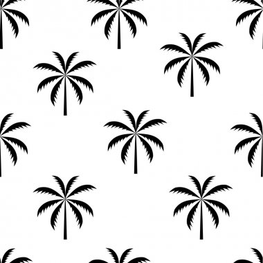Palm tree seamless pattern vector illustration