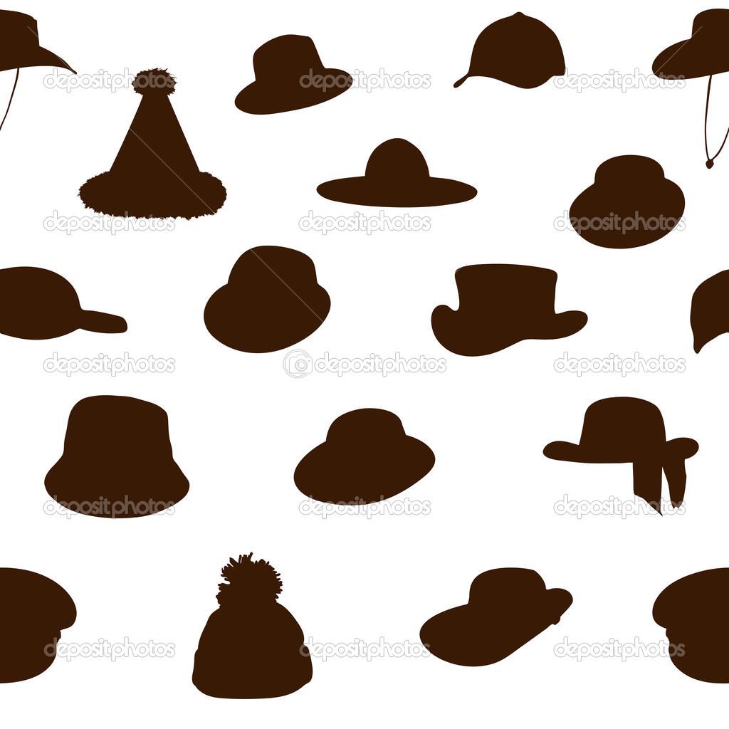 patrón sin costuras sombreros — Vector de stock © oleggankod #46597833