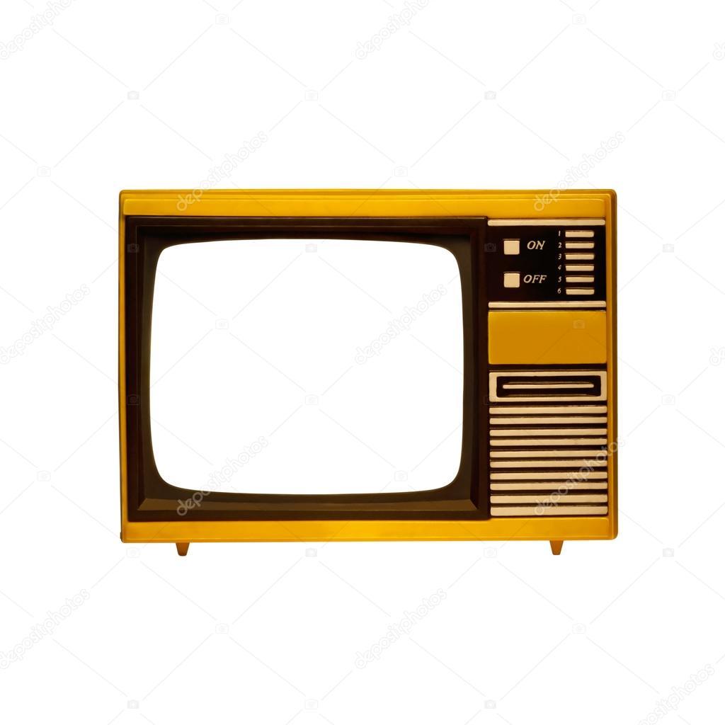 Televisor viejo marco con pantalla aislada fotos de - Televisores sin marco ...