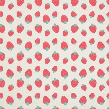 Cute seamless strawberry pattern