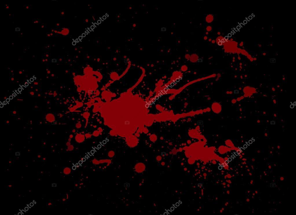 peinture d 39 claboussure de sang rouge sur fond noir photographie boulemonademoon 14522303. Black Bedroom Furniture Sets. Home Design Ideas