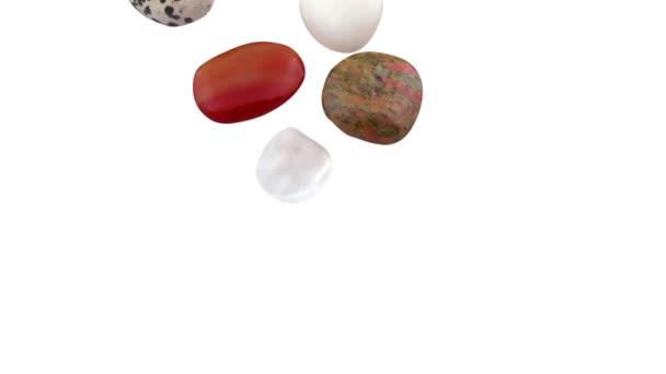 mnoho druhů křišťálových kamenů