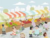 Market stall.