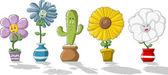 Fotografie barevné kreslené květiny