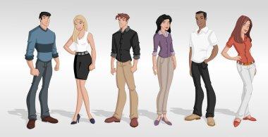 Group cartoon business