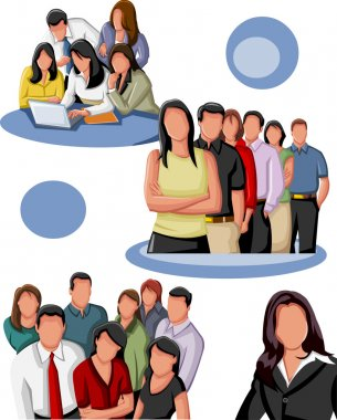 Group of business clip art vector