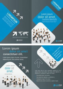 Template for advertising brochure with business clip art vector