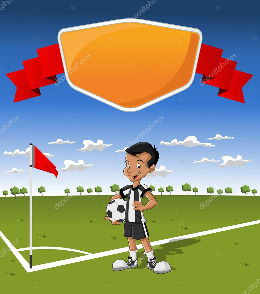 Cartoon Soccer Grass