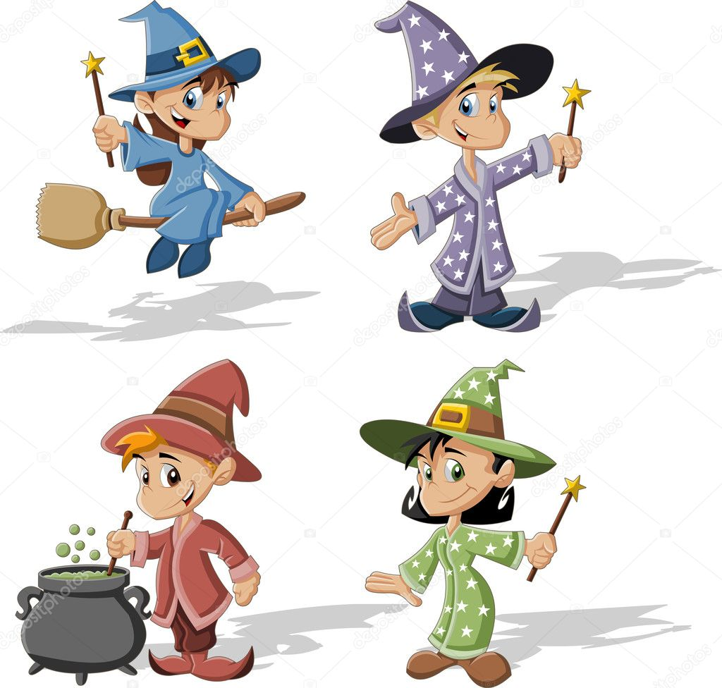 Wizard boys and witch girls