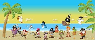 Cartoon pirates