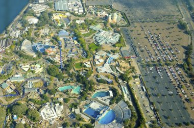 Aerial view of Seaworld, San Diego