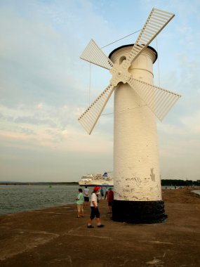 Seaside windmill.