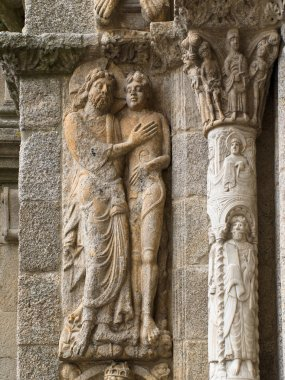 Romanesque Adam and Eve in Compostela Cathedral