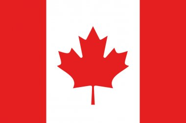 Illustrated Drawing of the flag of Canada
